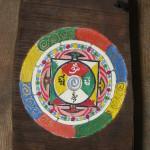 Mandala inspirowana sztuką Tybetu